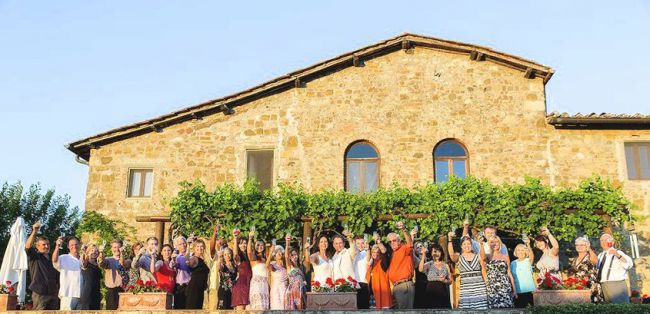 wedding celebration in Tuscany
